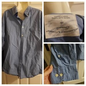 Roundtree & Yorke Mens Button Up Size 2X Blue